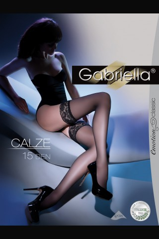 Луксозни дълги чорапи Gabriella със силикон 15 DEN