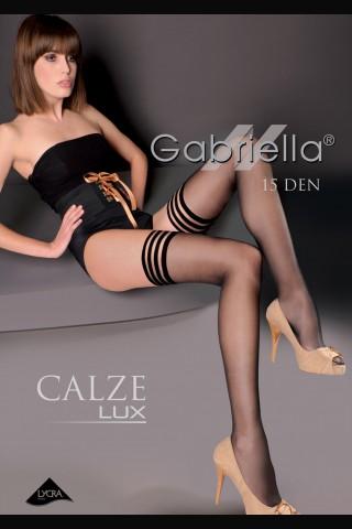 Луксозни дълги чорапи Gariella - Calze Lux със силикон 15 den