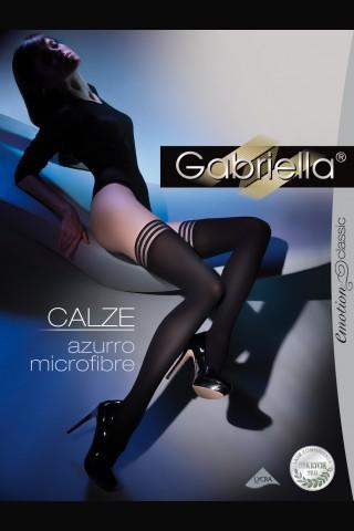 Дълги черни силиконови чорапи - Gabriella Calze Azurro