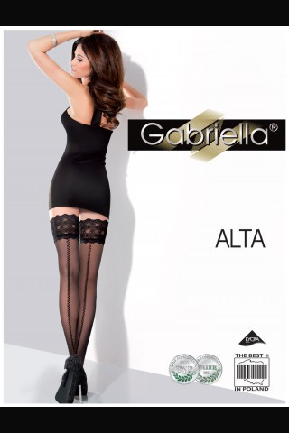 Секси нежни фигурални чорапи с дантела - Gabriella Alta