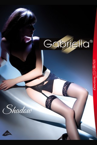 Луксозни чорапи Gabriella със жартиери 15 den - Shadow