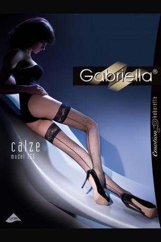 Дълги мрежести чорапи със дантела и силиконова лента - Gabriella