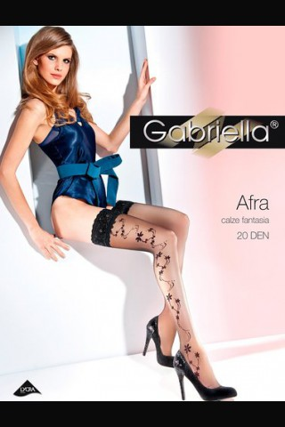 Дълги фигурални силиконови чорапи - Gabriella Afra