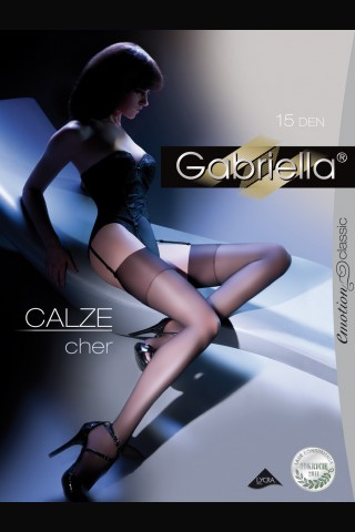 Луксозни тънки дълги чорапи за жартиери - Gabriella Calze Cher