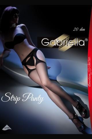 Луксозни чорапи с жартиери тип чорапогащник - Gabriella 20 den