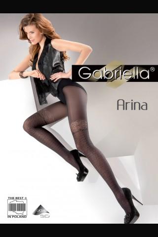 Дамски чорапогащник Gabriella Arina със имитация на мрежест чорап с дантела
