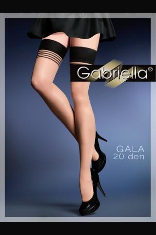 Дамски фигурални чорапи със силиконова лента - Gabriella Gala