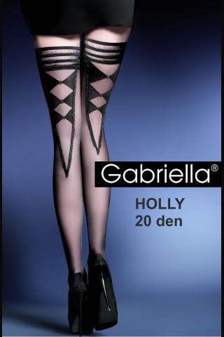 Дамски фигурални чорапи със силиконова лента - Gabriella Holly