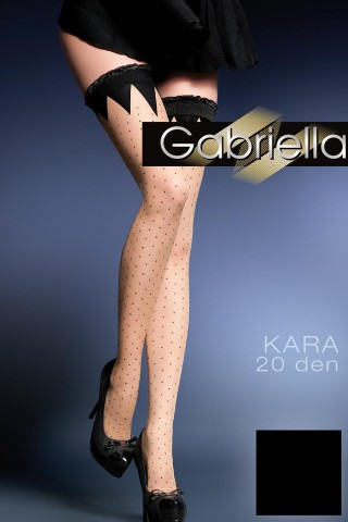 Дълги фигурални чорапи със силиконова лента - Gabriella Kara