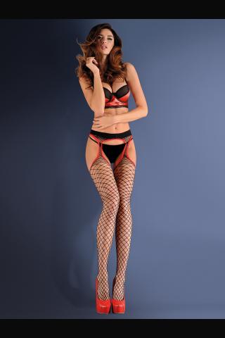 Невероятен секси чорапогащник имитация на жартиери - Gabriella