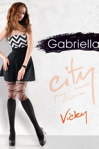 Нежен фигурален чорапогащник 20 DEN - Gabriella Vicky