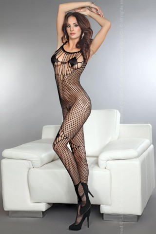 Секси мрежесто фигурално целокупно боди LivCo Amkezia
