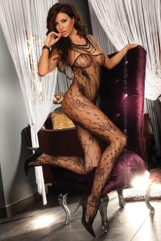 Секси мрежесто фигурално целокупно боди LivCo Chrysanthe