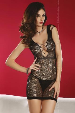 Секси мрежеста фигурална рокличка - Daksha