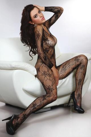 Секси мрежесто фигурално целокупно боди LivCo Helia