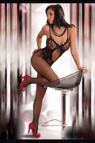 Секси мрежесто фигурално целокупно боди LivCo Magali