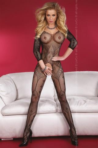 Секси мрежесто фигурално целокупно боди LivCo Maribel