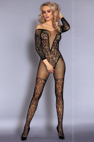 Изключително секси фигурално целокупно мрежесто боди на LivCo Nurya