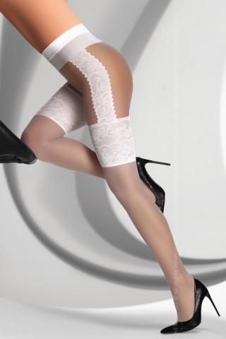 Фигурален чорапогащник на на LivCo - AGNISKA 20 DEN white