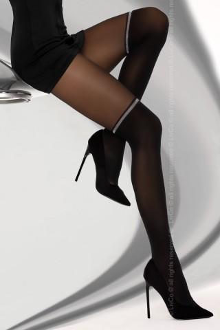 Секси черен фигурален чорапогащник 30 DEN на LivCo Ariaama