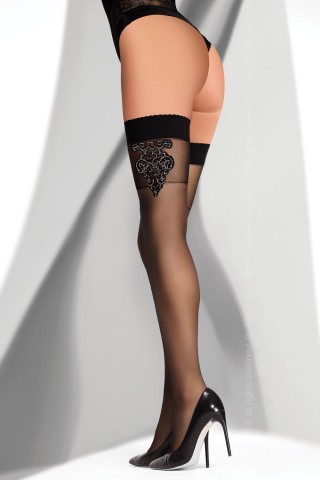 Фигурални цветни силиконови чорапи на LivCo - FELIPANA 20 DEN