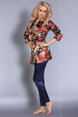 Секси сатенен халат и сатенен панталон на LivCo - Frida