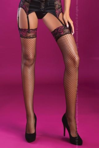 Мрежести чорапи за жартиери с цветна дантела на LivCo Corsetti