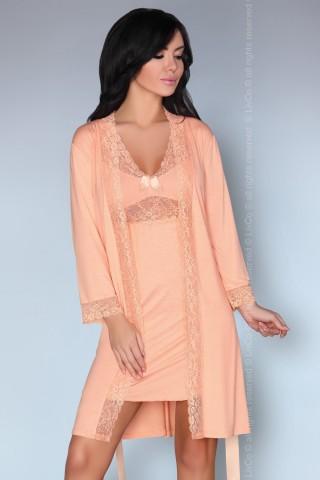 Секси комплект нощница с халат на LivCo - Shirleena