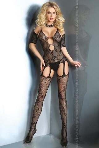 Секси мрежесто фигурално целокупно боди LivCo Padma