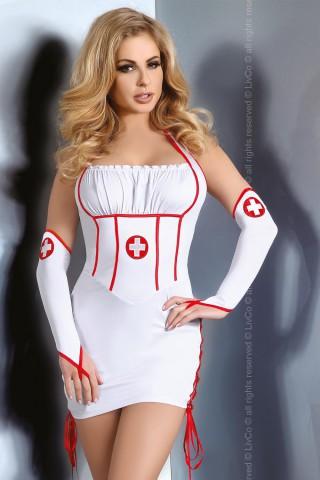 Секси рокля на медицинска сестра с ръкавели - LivCo Raisa