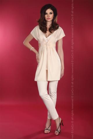 Изключително нежен и секси комплект пижама с халат - LivCo Timea