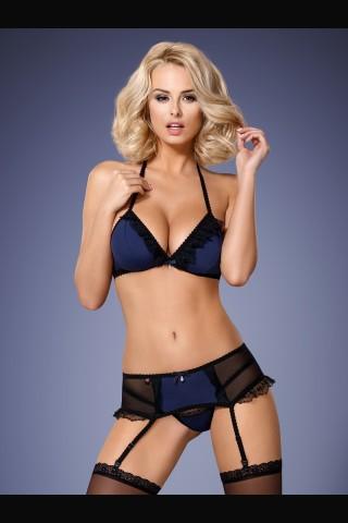Секси разкриващ тъмно син комплект на Obsessive