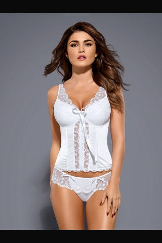 Невероятно секси бял корсет за специални поводи на Obsessive