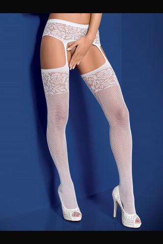 Мрежести чорапи-чорапогащник - имитация на чорапи с жартиери - Obsessive