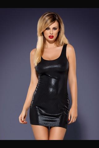Лъскава предизвикателна рокля на Obsessive - Obsydian wetlook