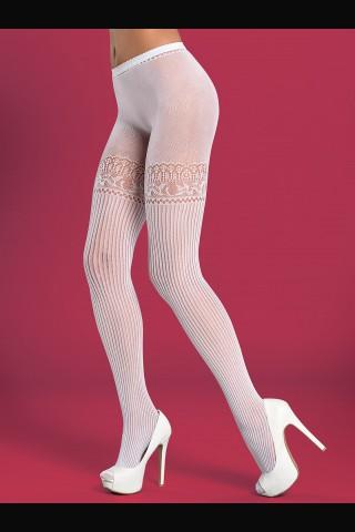 Секси мрежест фигурален чорапогащник отворен отдолу - Obsessive