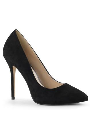 Еротични обувки на висок ток от велур на Pleaser - Amuse 20